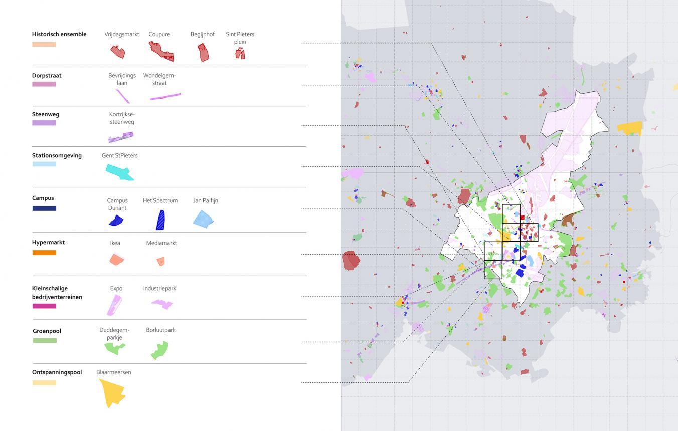 Synthese Gent, transitie in mobiliteit en ruimte door Tractebel, 51N4E, Granstudio, VUB-Cosmopolis, Scelta Mobility