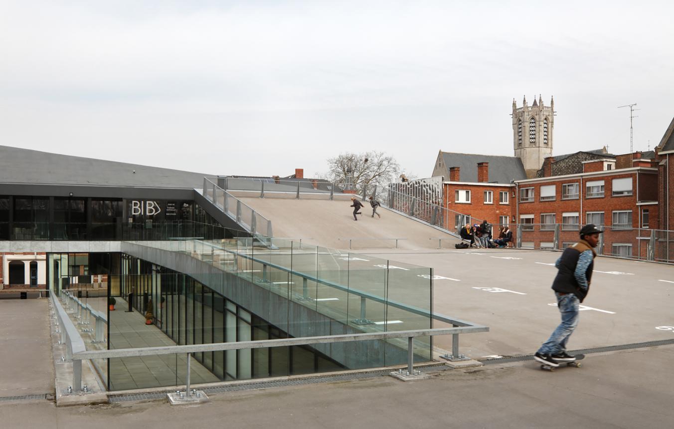 OO0340 Hoofdbibliotheek Dendermonde, architecten BOB361, 2010