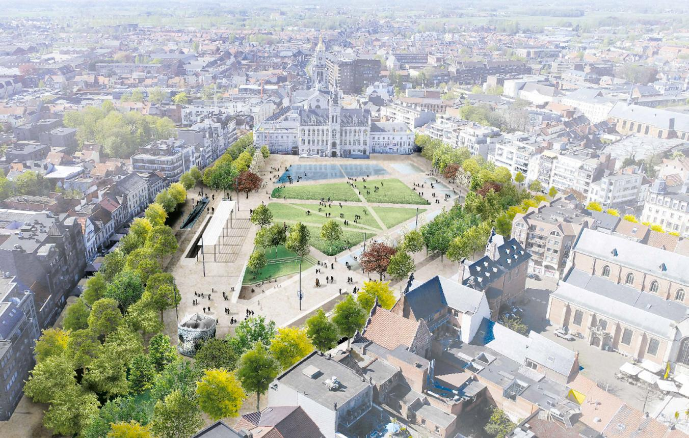 Visiebeelden voor de nieuwe Grote Markt in Sint-Niklaas