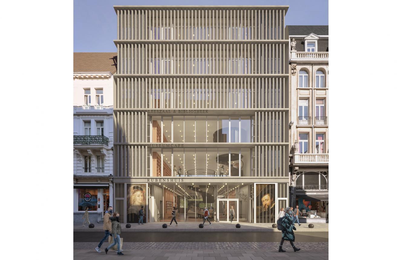 Reception building Rubenshuis facade Hopland