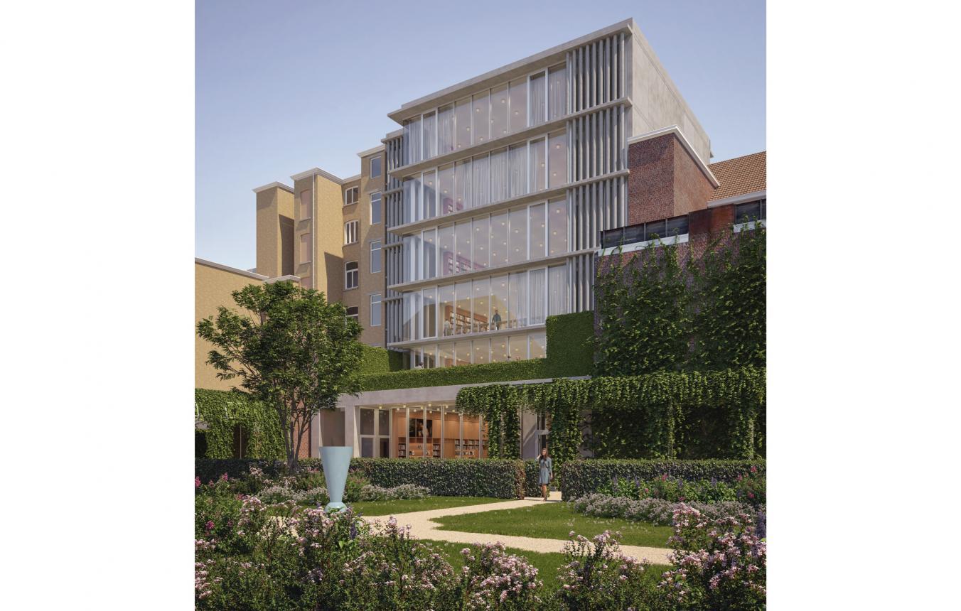 Reception building Rubenshuis facade garden