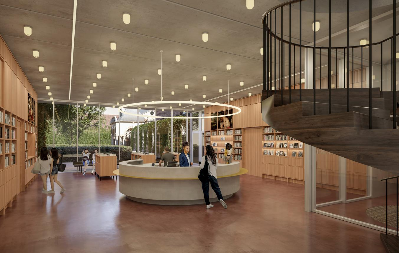 Reception building Rubenshuis lobby