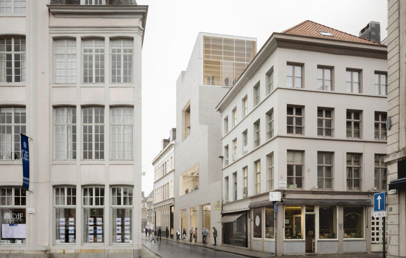 OO3601 visiebeeld Designmuseum Gent © Carmody Groarke, RE-ST, Trans architectuur I stedenbouw