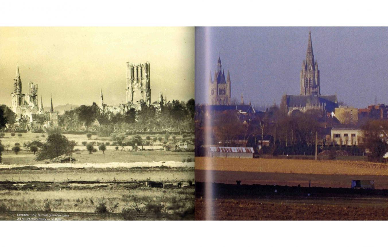 """Beeld: """"De laatste getuige, Het oorlogslandschap van de Westhoek"""", Piet Chielens, Dominiek Dendooven,Hannelore Decoodt, Lannoo 2006"""