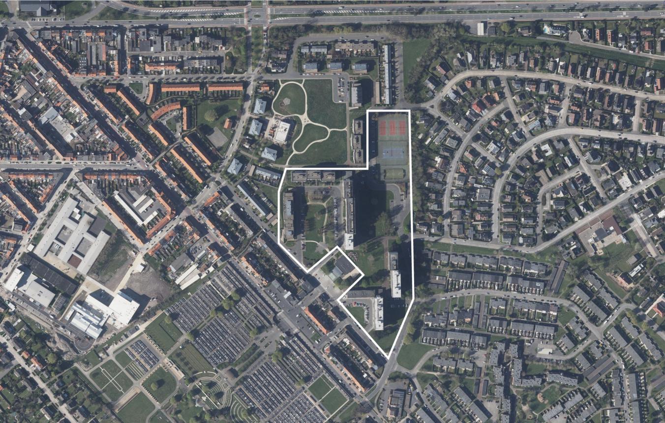 Luchtfoto OO3401 De Nieuwe Stad Oostende