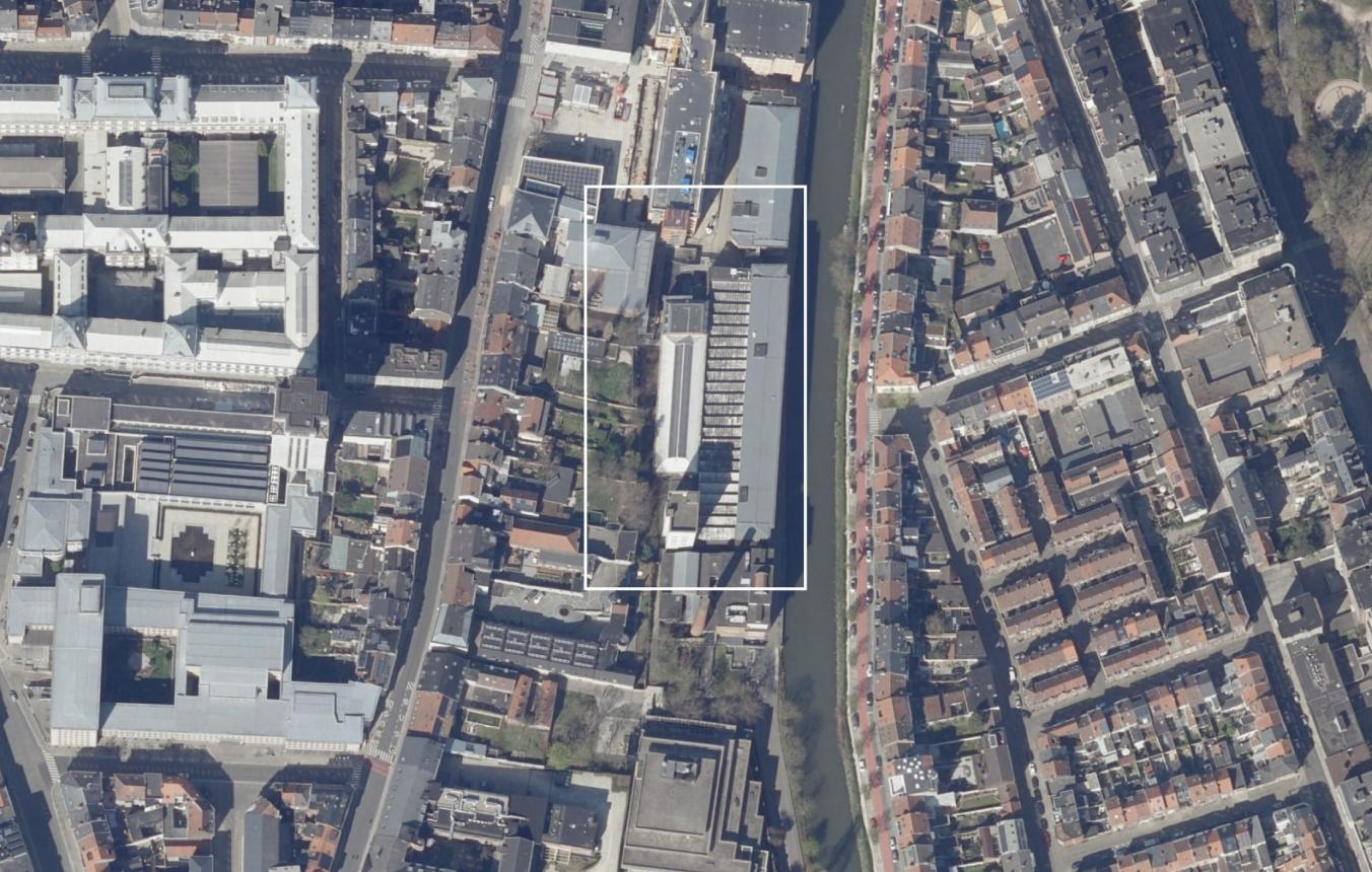 Luchtfoto projectsite OO4102 Gent Technicum 4