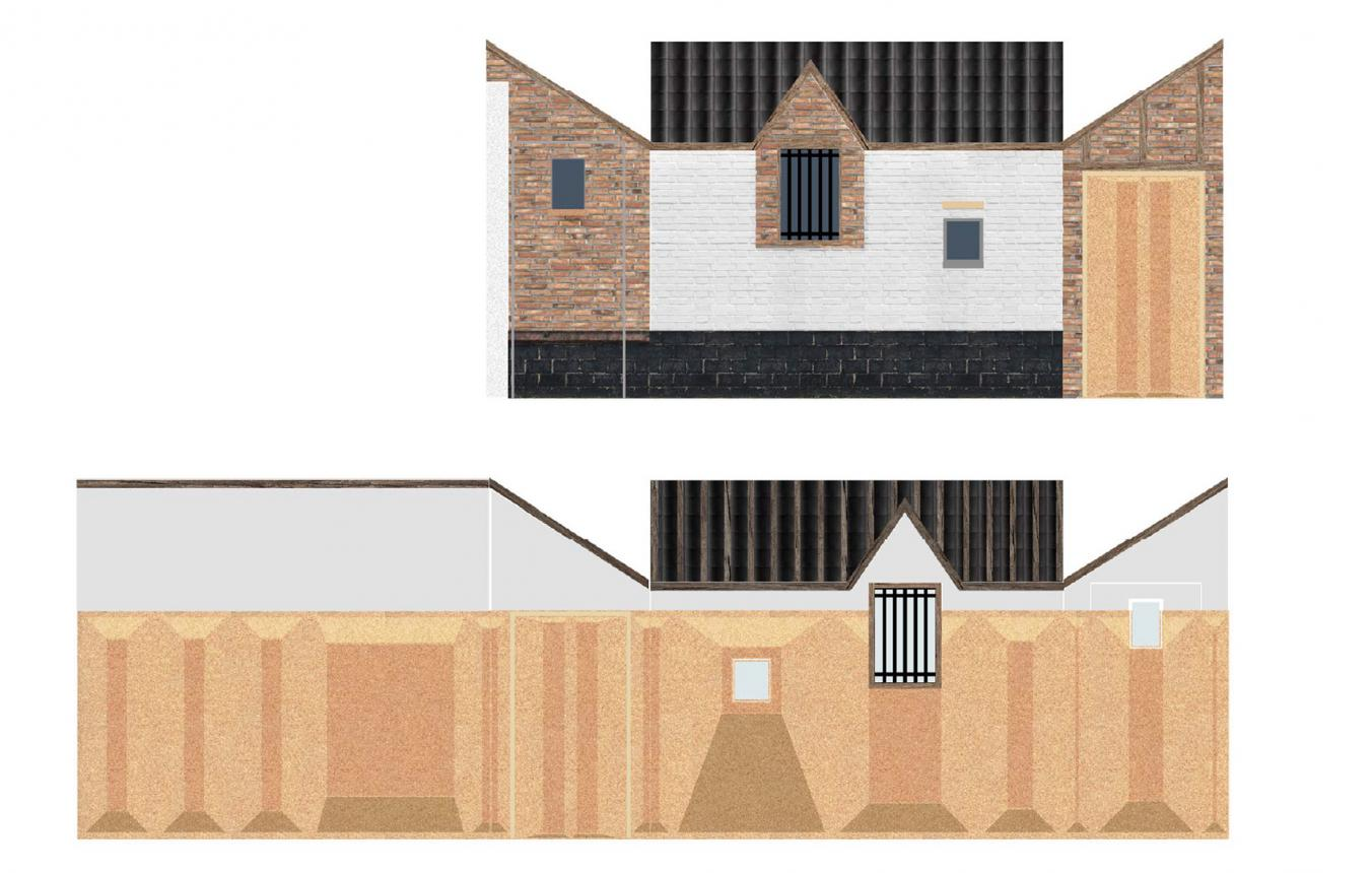 Ontwerpvisie voor Pilootproject Studenten Maken Stad k_Druum van Vplus - Aurélie Hachez Architecte - Antoine Espinasseau - UTIL Struktuurstudies - Cenergie