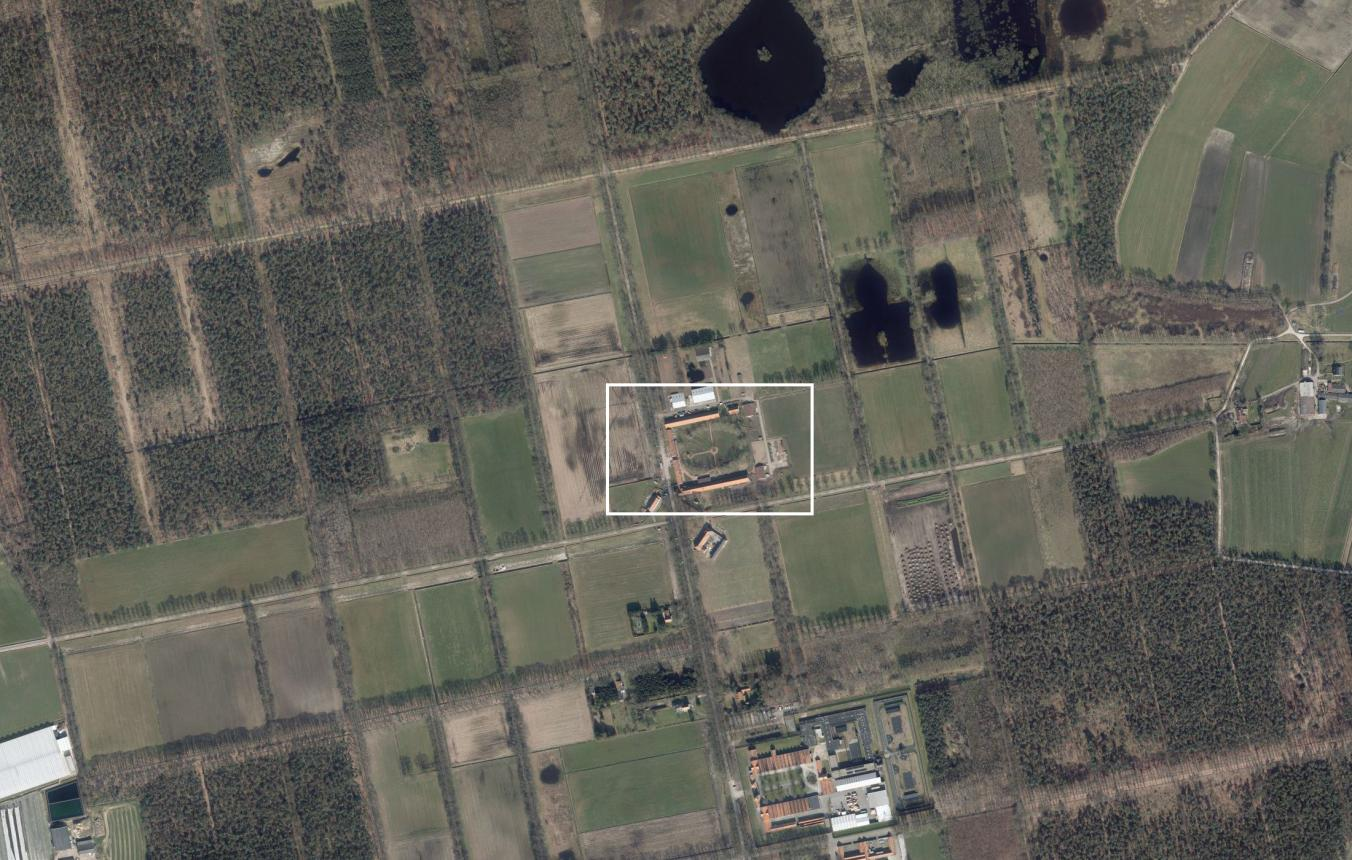 luchtfoto boerderij Wortel-Kolonie in Hoogstraten
