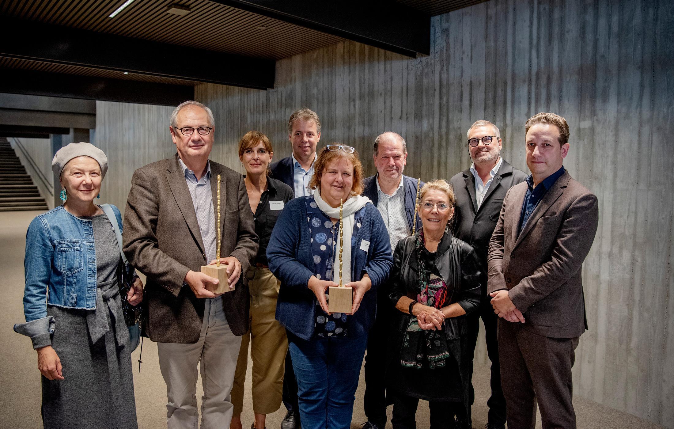 Juryleden en laureaten van de Prijs Wivina Demeester voor Excellent Bouwheerschap 2019