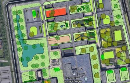 Voorstel voor vergroening gevangenis Brugge - Fris in het Landschap