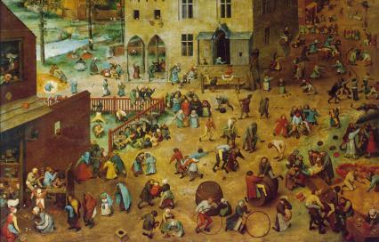 Pieter Bruegel de Oude, Kinderspelen, olieverf op paneel, 118x161 cm, 1560