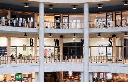 Atelier Bouwmeester in de Galerij Ravenstein in Brussel