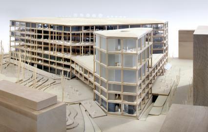 Schaalmodel nieuw VRT-gebouw ©Filip Dujardin / Team Vlaams Bouwmeester