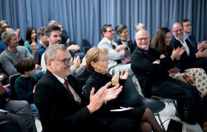 Prijs Wivina Demeester voor Excellent Bouwheerschap 2019 met Wivina Demeester en Leo van Broeck