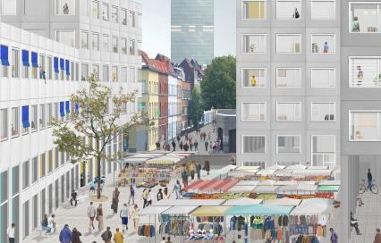 Pilootprojecten Studenten Maken Stad. Beeld uit ontwerpend onderzoek van LIST Architecture-Urbanisme
