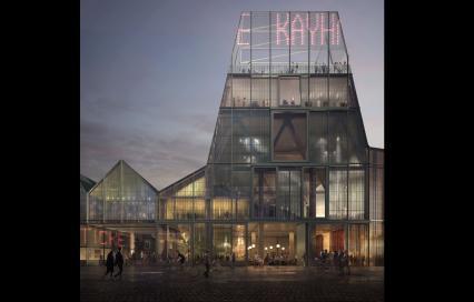 Facade masterplan Podiumkunstensite Leuven door Sergison Bates architects